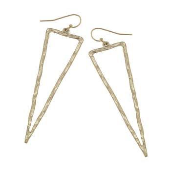 Liliana Spear Drop Earrings In Worn Gold