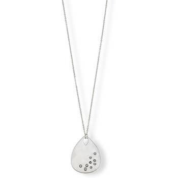 Caroline Layered Pendant Necklace In Satin-Finished Silver