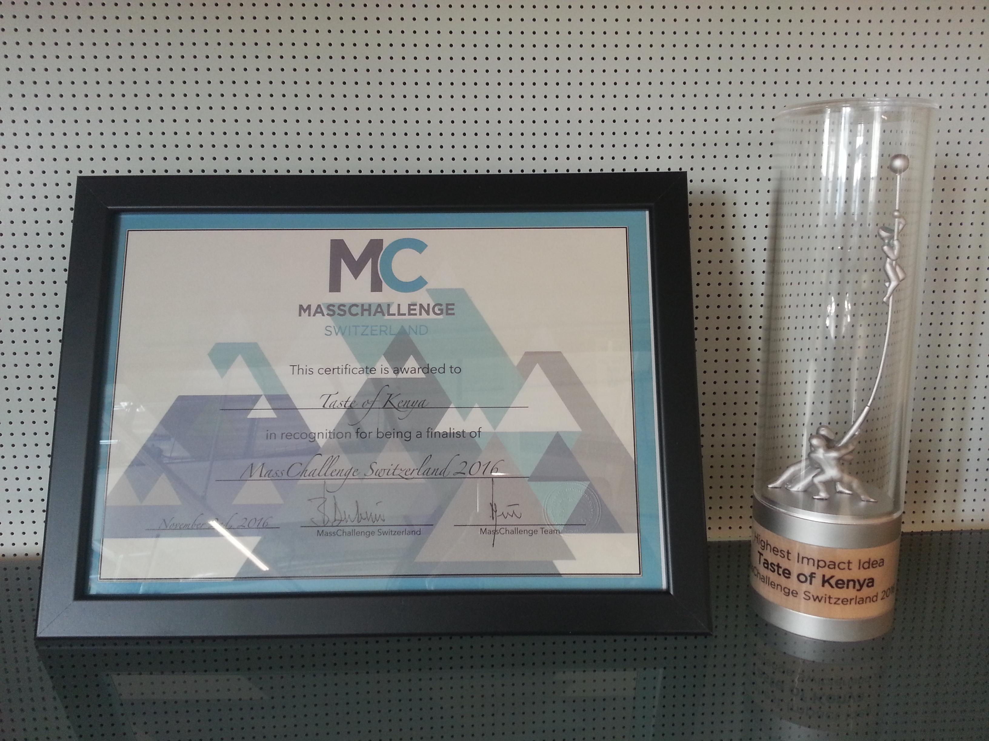MassChallenge Switzerland Highest Impact Award (Nov 2016)