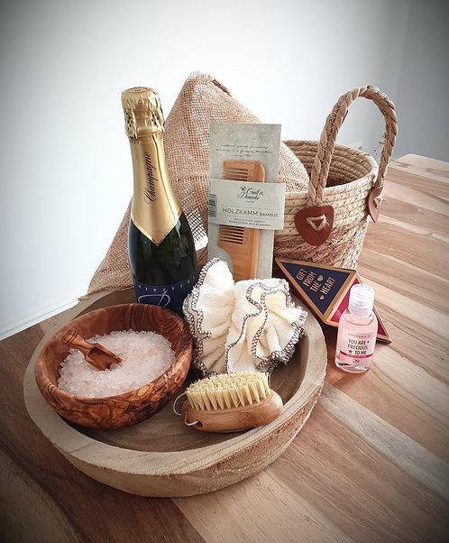 Wellness Box Bamboo met champagne