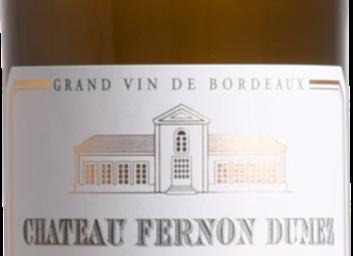 Château Fernon Dumez - Graves Blanc 2016
