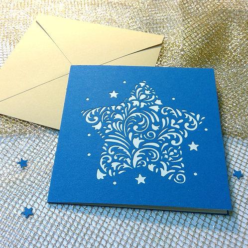 "Plotterdatei Karte ""OrnamentStern"""