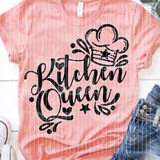 "Plotterdatei Folienmotiv SVG  ""Kitchen Queen""                     3.50"