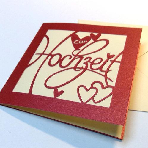 """Plotterdatei Karte """"Hochzeit"""""""