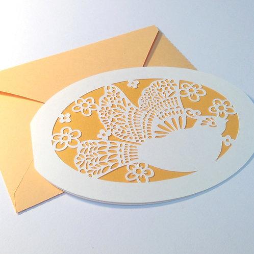 """Plotterdatei """"Karte Taube"""" mit Kuvert"""