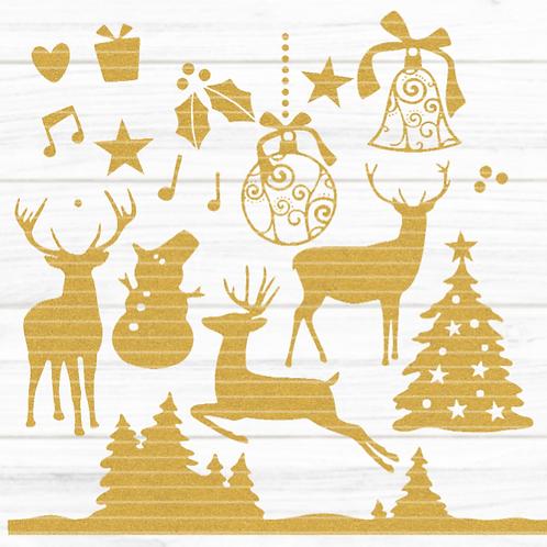 Plotterdatei Wald Weihnachten