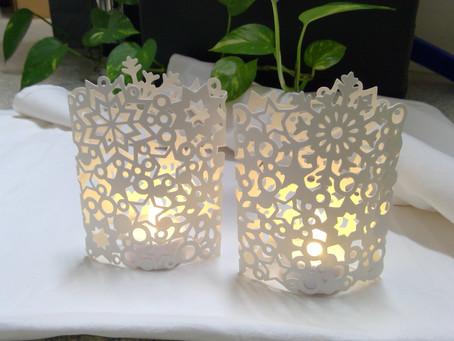 Lichthülle aus Tonpapier
