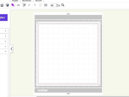 "Freebie ""Karte Sorry"" SVG Brother Canvas Workspace Online"