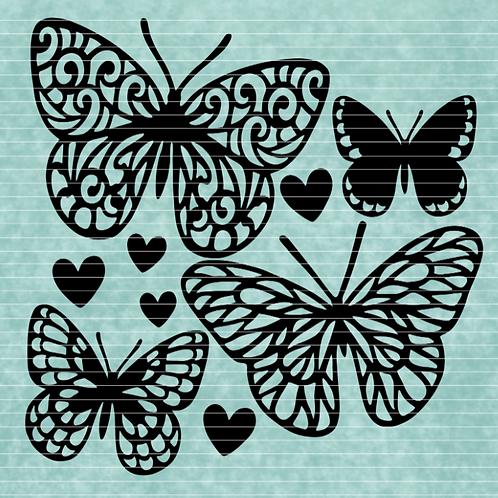 "Plotterdatei ""4 Schmetterling"""