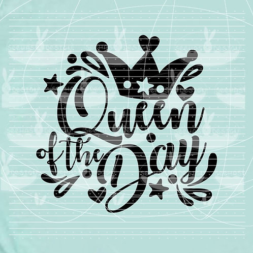 "Plotterdatei ""Queen of the Day"""