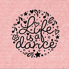 "Plotterdatei Folienmotiv SVG  ""Life is a dance""                    3.50"