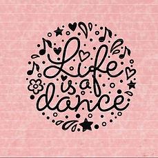 "Plotterdatei Folienmotiv SVG  ""Life is a dance""          3.50"
