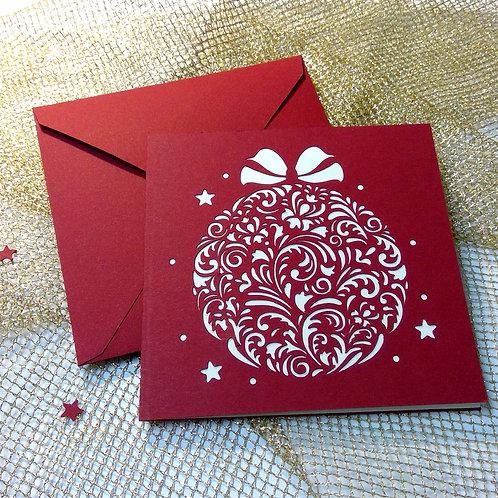 "Plotterdatei Karte ""Ornamentkugel"""