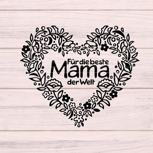"""Plotterdatei """"Beste Mama der Welt"""""""