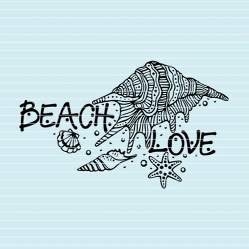 "Plotterdatei ""beach love"""