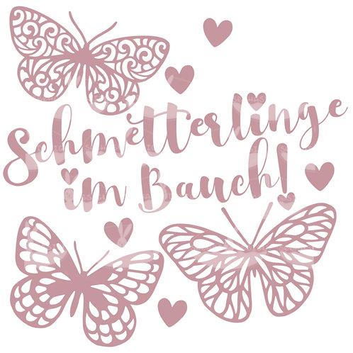 Plotterdatei Schmetterlinge im Bauch