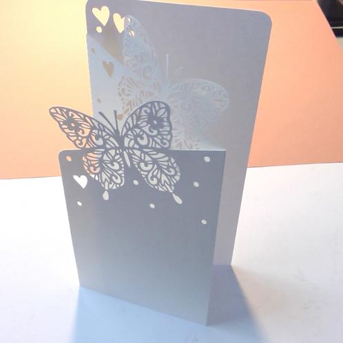 """Plotterdatei """"Hochzeitskarte Schmetterling"""""""""""