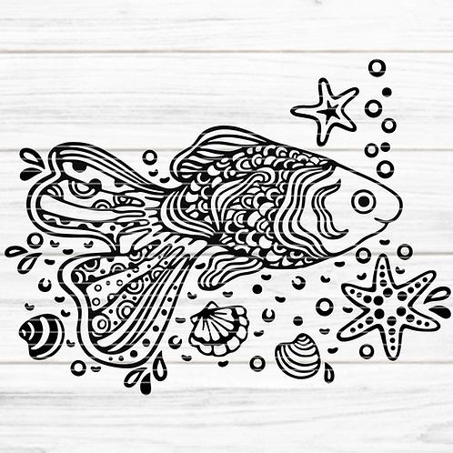 """Plotterdatei """"Paradies-Fisch"""""""