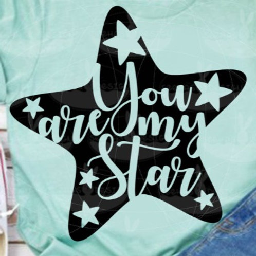 "Plotterdatei ""Stern You are my star"""