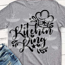 "Plotterdatei Folienmotiv SVG  ""Kitchen King""                         3.50"