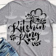 """Plotterdatei Folienmotiv SVG  """"Kitchen King""""            3.50"""