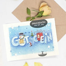 Druckvorlage Weihnachtskarten