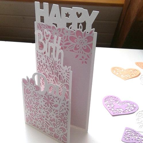 """Plotterdatei """"Happy Birthday Faltkarte"""""""
