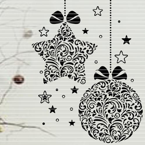Plotterdatei Ornament Kugel Stern