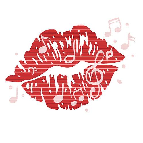 """Plotterdatei """"music kiss"""""""