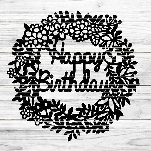 """Plotterdatei """"Birthday Kranz"""""""