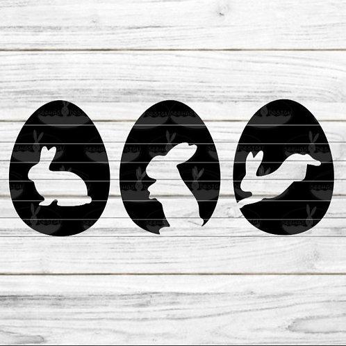 """Plotterdatei """"3 Eier mit Hasen"""""""