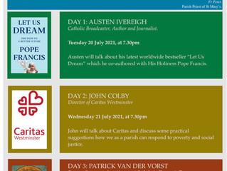 "St Mary's - ""Let Us Dream"" Three talks over three evenings"