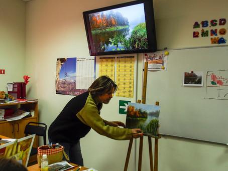 Воскресный мастер-класс по живописи в ЛингваЛэнд