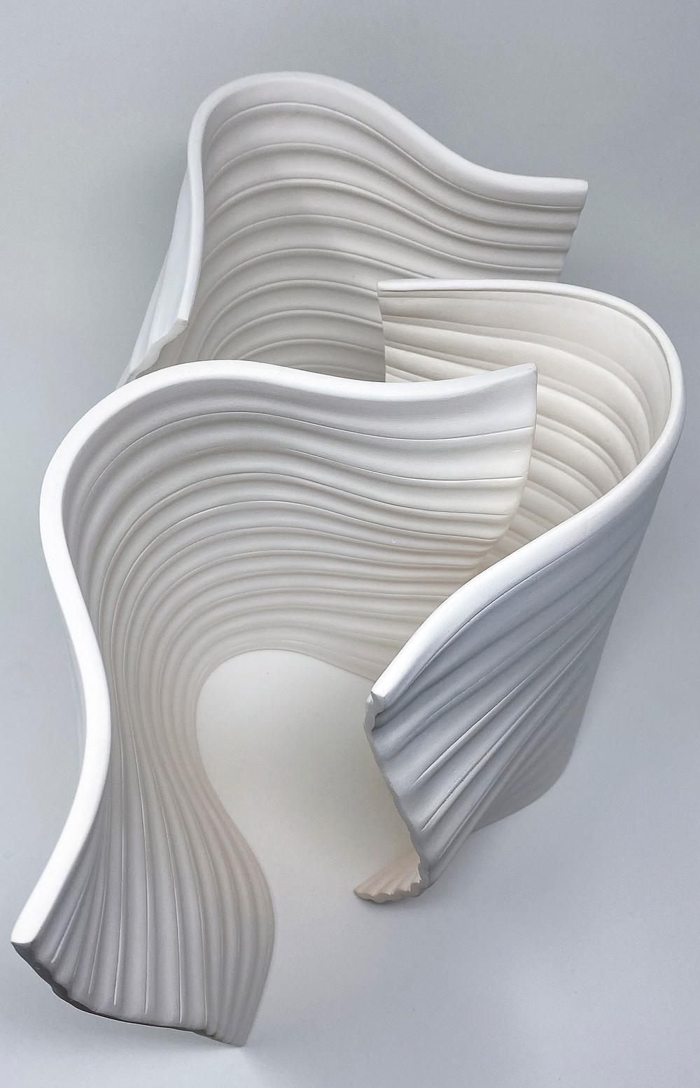 Release' III (2020), porcelain, glaze