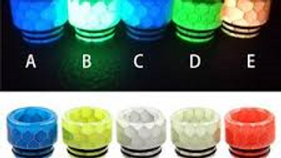 Assorted Noctilucent Resin Drip Tips