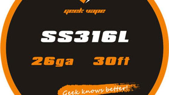 Geekvape SS316L Tape Wire 26GA 30ft