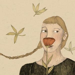 Portrait fleuri