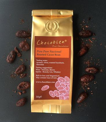 Roasted Pure Nacional Cacao Bean