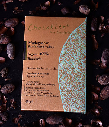 65% Madagascar Sambriano Valley Chocolate Bar