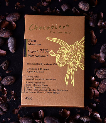 75% Peru Maranon Chocolate Bar