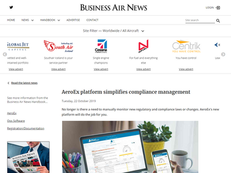 AeroEx platform simplifies compliance management