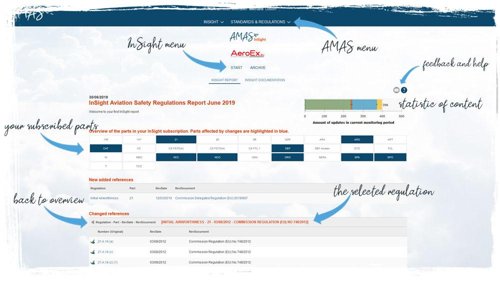 AMAS.aero InSight monthly report