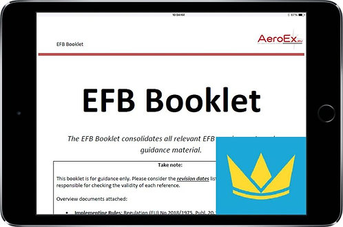 AeroEx EASA Air OPS EFB - Quick Start for Web Manuals Customers