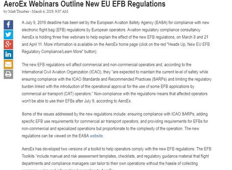 AeroEx Webinars Outline New EU EFB Regulations