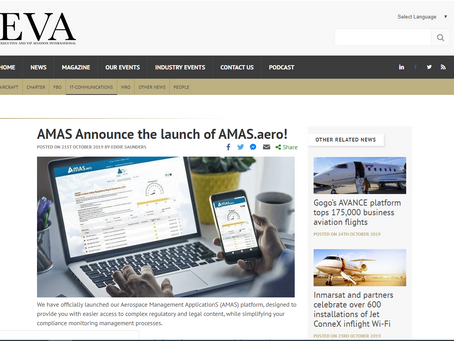 AMAS Announce the launch of AMAS.aero!