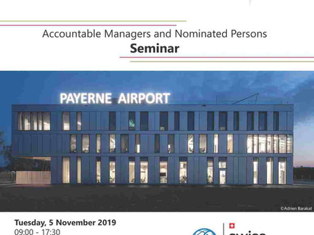 ACCOUNTABLE MANAGERS AND NOMINATED PERSONS SEMINAR - 05 NOV 2019