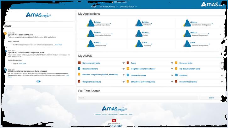 Startpage AMAS.aero