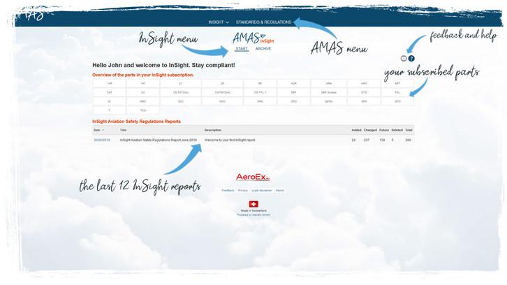 AMAS.aero InSight start home