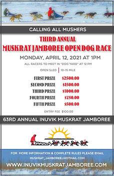 2021 INUVIK MUSKRAT JAMBOREE - OPEN DOG