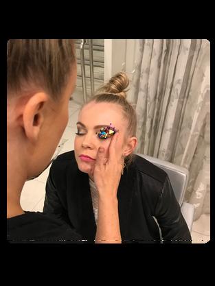 Editorial Glitter Confetti Makeup